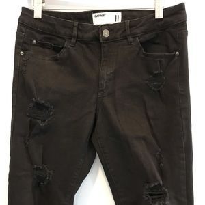 Garage black distressed jeans high rise size 11